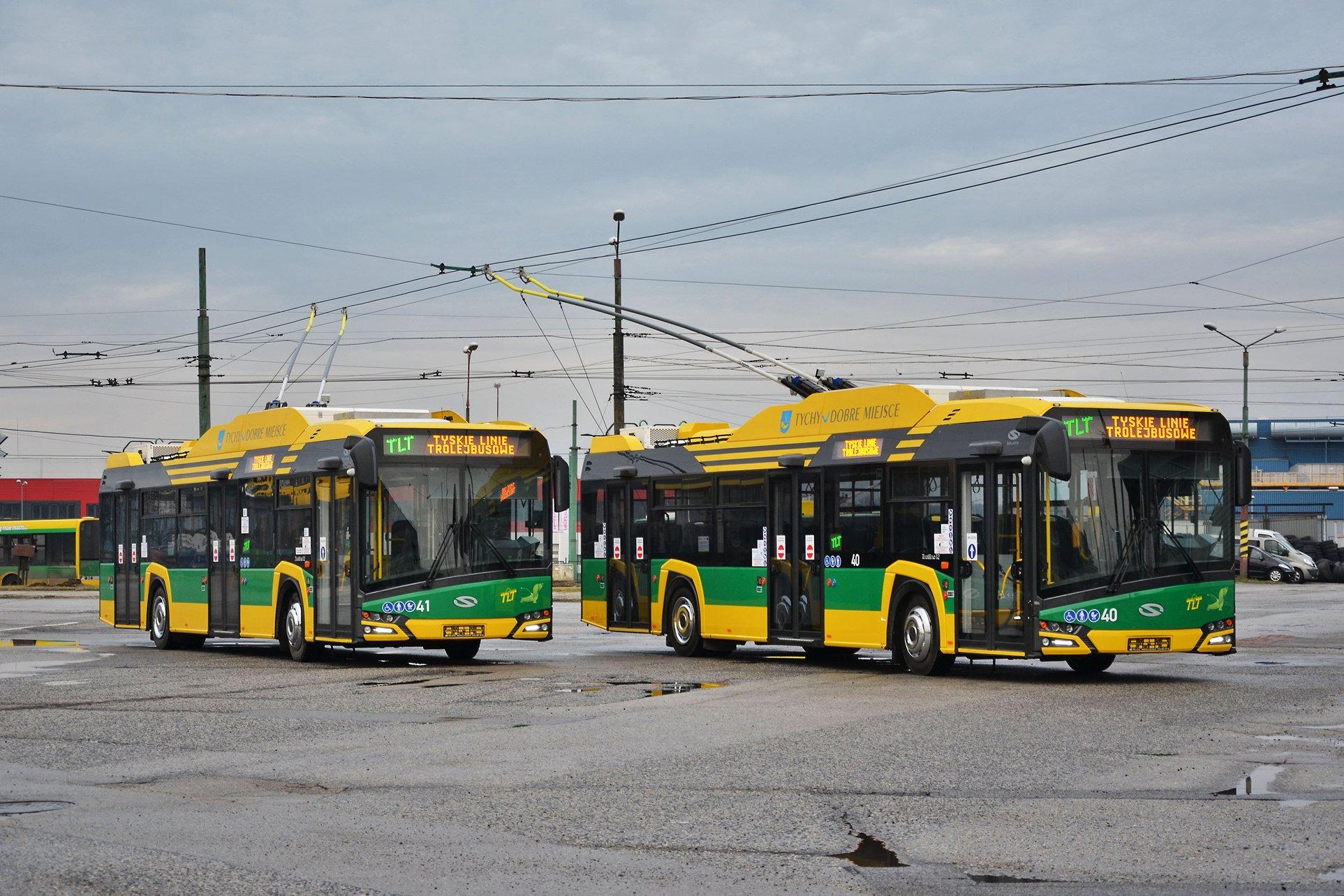 bf262ccb5a6091 tychy.info: Piktogram miasta Tychy i logo Metropolii na trolejbusach - Tychy